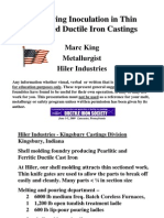 HILER Industries DIS Improving Inoculation in Thin Sectioned Ductile Iron Castings