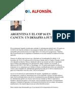 ARGENTINA Y EL COP 16 EN CANCÚN, un desafio a futuro