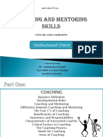 Coaching and Mentoring Skill Building