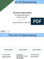 The Art of Interviewing the Art of Interviewing 1422