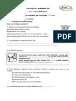 Ficha Coordenação e subordinação