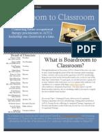 Boardroom to Classroom