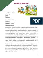 SECUENCIA DE NATURALES tercer grado 2019