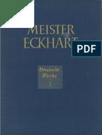Meister Eckhart - Die deutschen Werke Bd I. Predigten 1-24