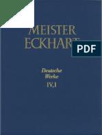 Meister Eckhart - Die deutschen Werke Bd IV.1. Predigten 87-105