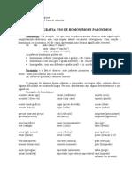 Ortografia - Uso de Homônimos e Parônimos