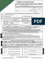 Formulário de Pedido Do Seguro DPVAT Com Endosso