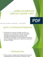 OPERACIONES EN SERVICIOS CONTACT CENTER Y BPO