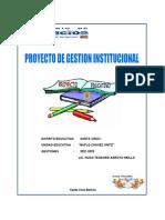 PROYECTO INSTITUCIONAL U.E ÑUFLO CHAVEZ
