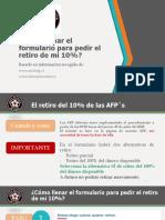 UPCH - Cómo Llenar Formulario Retiro 10%