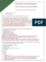 8 A - EXERCÍCIOS DE APRENDIZAGEM  TRANSFORMAÇÕES QUÍMICAS