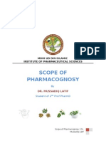 Scope of Pharmacognosy