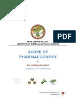 Scope of Pharmacognosy