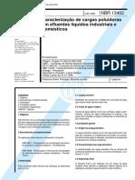 Nbr 13402 - Caracterizacao de Cargas Poluidoras Em Efluentes Liquidos Industriais e Domesticos
