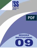 Memoria Institucional del MTSS 2009