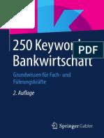250 Keywords Bankwirtschaft Grundwissen für Fach- und Führungskräfte