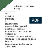 Activităţile funcţiei de personal