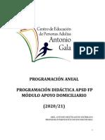 Programación Apoyo Domiciliario Abel Antonio Monteagudo Escribano