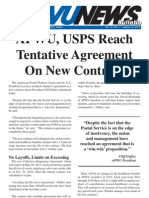 APWU, USPS Tentative Contract Highlights