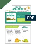 How to Apologize Teacher Tip Card