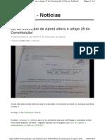 Lei Municipal Emenda Constituição Federal