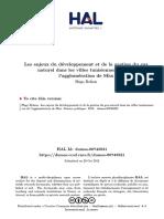 Bolzon Hugo - Les Enjeux Du Developpement Et de La Gestion Du Gaz Naturel Dans Les Villes Tunisiennes