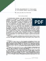 CUARTELES, BARRIOS Y CALLES DE LIMA A FINES DEL SIGLO XVIII