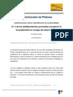 81 % de los establecimientos prevenidos corrigieron el incumplimiento en el pago del salario m-ínimo Feb 25, 2011