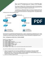 Configure VPN IPSec con IP dinámica en Cisco IOS Router