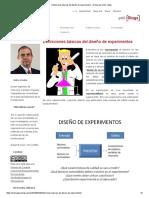 Definiciones básicas del diseño de experimentos – El blog de Víctor Yepes