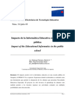 Impacto de la Informática Educativa en la escuela pública Impact of the Educational Informatics in the public school