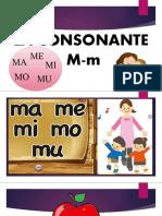 La Consonante M-m -3 y 4 Años