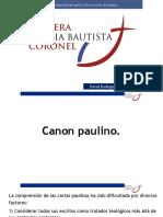Canon paulino