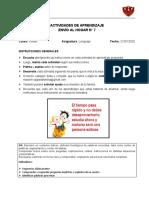 A. de Aprendizaje N° 7_Lenguaje_Kínder_validada