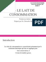 3- Le Lait de Consommation