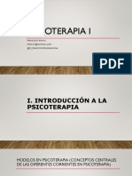 Psicoterapia I. Modelo Cognitivo Conductual