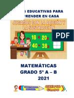 GUÍAS DE MATEMATICAS 5º A, B