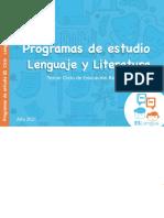 Programa Lenguaje Tercer ciclo 2021
