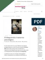 El Maquinista. Trastorno Psicológico - Blog Masquemedicos