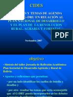 2007 GDRU PND Plan sectorial agenda JAD CIDES
