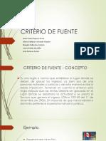 CRITERIO DE FUENTE