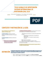 Pautas Prácticas Globales de Hipertensión de La Sociedad Internacional de Hipertensión (Ish) 2020