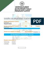 Informe Paquetes Turísticos - UDONE