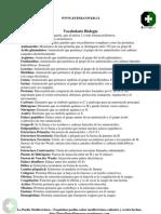 I Medio - Biología - Vocabulario Biología 2007