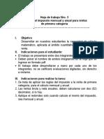 Sesión TRES_Hoja de trabajo Nro 3_Ejercicios_Rentas primera categoría
