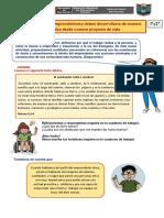 2da. EXPERIENCIA DE APRENDIZAJE  Act. 2 - 1° y 2° PRG