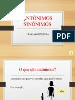 Antonimos e Sinonimos