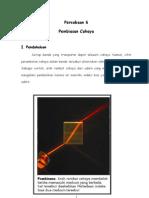 Percobaan 6 - Pembiasan Cahaya