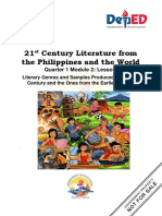 21st Century Literature From the Philippines and the World Q1M2L1