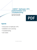 Netscaler VPX implementation and troubleshooting